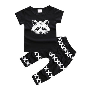SY123 new summer 2018 boy's short-sleeved cotton baby clothes set fashion t-shirtdresskily-dresskily
