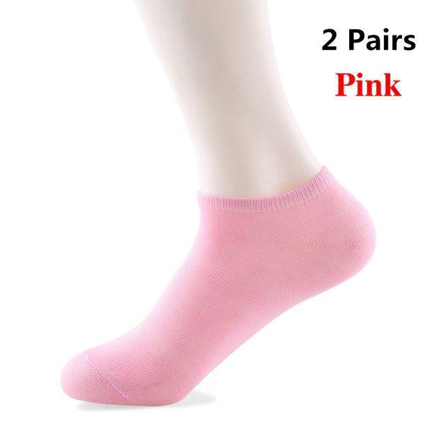 1/2 Pair Fashion Candy Color Women Lady Soft Cotton Short Socks Femaledresskily-dresskily