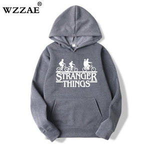 2018 Trendy Faces Stranger Things Hooded Mens Hoodies and Sweatshirts Oversized fordresskily-dresskily