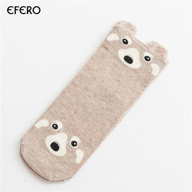 1pair Cute Animal Women Socks Female Cotton Socks Meias Autumn Winterdresskily-dresskily