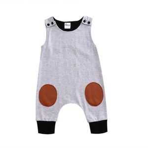 Newborn Kids Baby Rompers Boy Girls Infant Romper Sleeveless Jumpsuit Casual Babydresskily-dresskily
