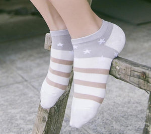 1 Pairs Women Socks Warm Comfortable Casual Cotton Girl Ankle Socks Durabledresskily-dresskily