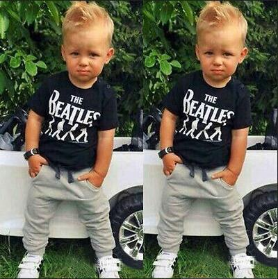 TZ-299 New Baby Boy Clothes 2pcs Short Sleeve T-Shirts Top + Pantsdresskily-dresskily