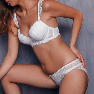 New Europe Girl sexy lace bra set gather adjustable underwear setsdresskily-dresskily