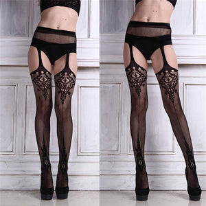FEITONG Sexy Women's stockings Lingerie net Lace Top Garter Belt Thigh Stockingdresskily-dresskily