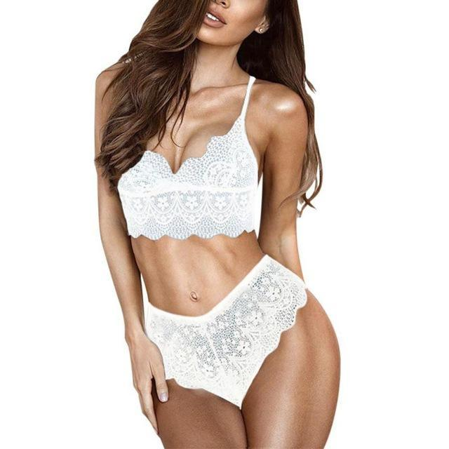Fashion autumn and winter underwear female sexy lace adjustable bra set thindresskily-dresskily