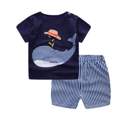 2018 Baby Outfits T-shirt Tops+ Pants 2Pcs Sets Newborn Clothes Summer Shortdresskily-dresskily