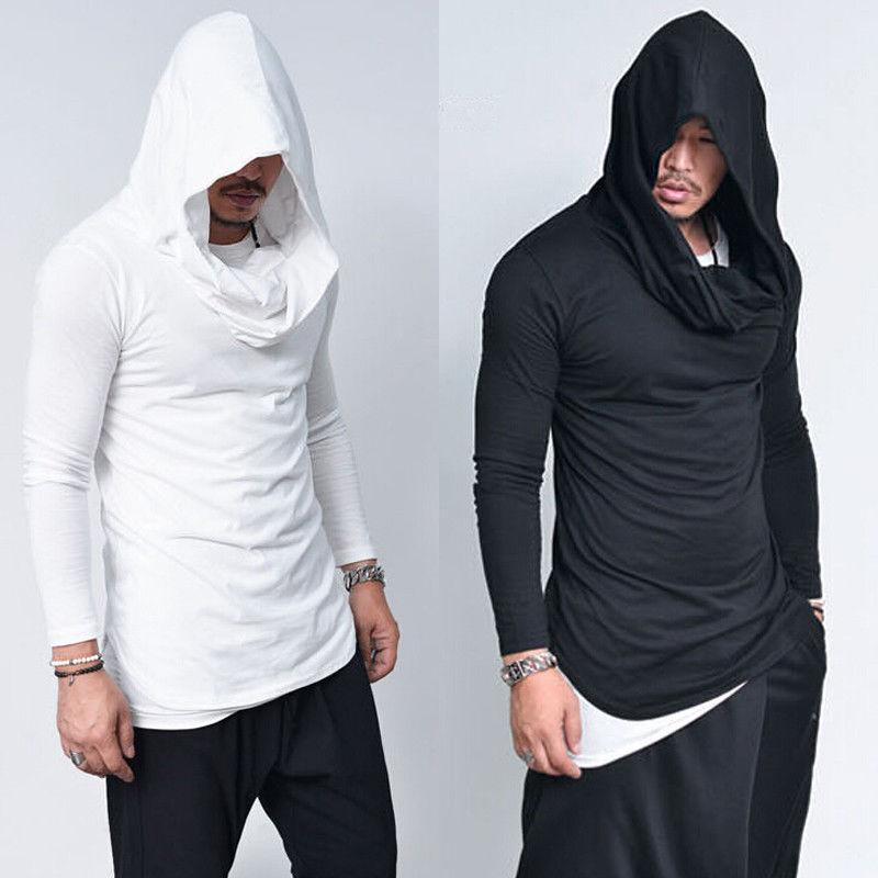 2018 Spring New Mens Hoodies Slim Fit Long Sleeve Solid Hoodies Lightdresskily-dresskily