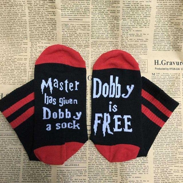 2018 New 11 Styles humor words printed socks Master Has Given Dobbydresskily-dresskily