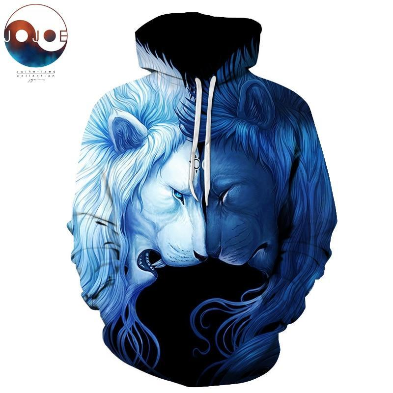 Brotherhood by JoJoesArt Lion 3D Sweatshrits Men Women Printed Hoodies Qualitydresskily-dresskily