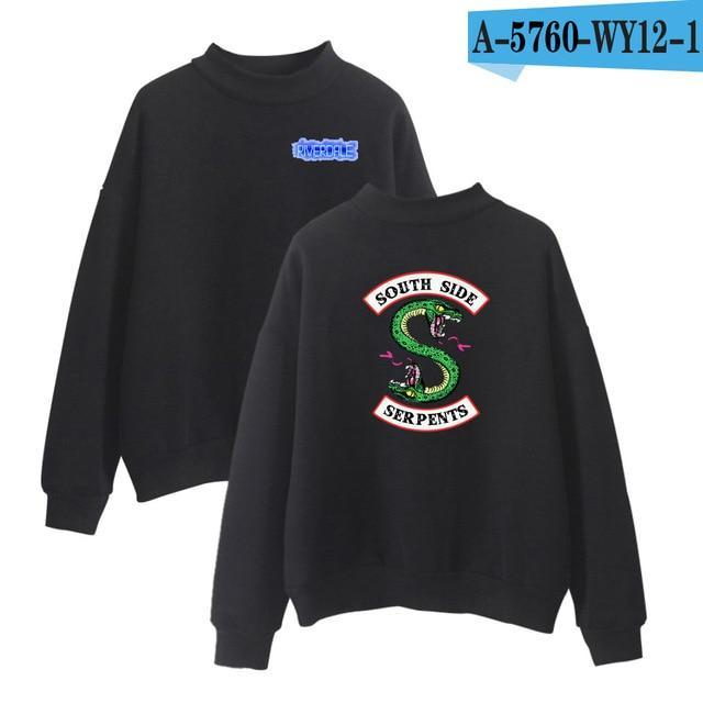 Riverdale Turtleneck Winter Hoodies Men Sweatshirts Hooded Pullover Casual Harajuku Europeandresskily-dresskily