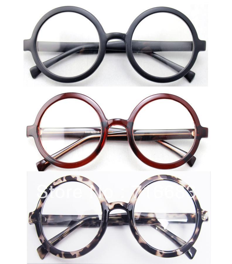Large Size Oversized Retro Vintage Harry Potter Round Eyeglass Frame Black Browndresskily-dresskily