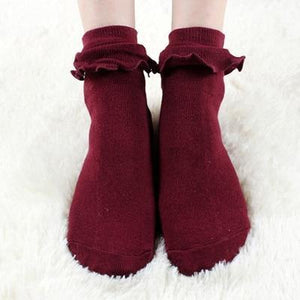 Japanese Kawaii Women's Socks with Lace Lovely Sock Cute Ladies Socks fordresskily-dresskily