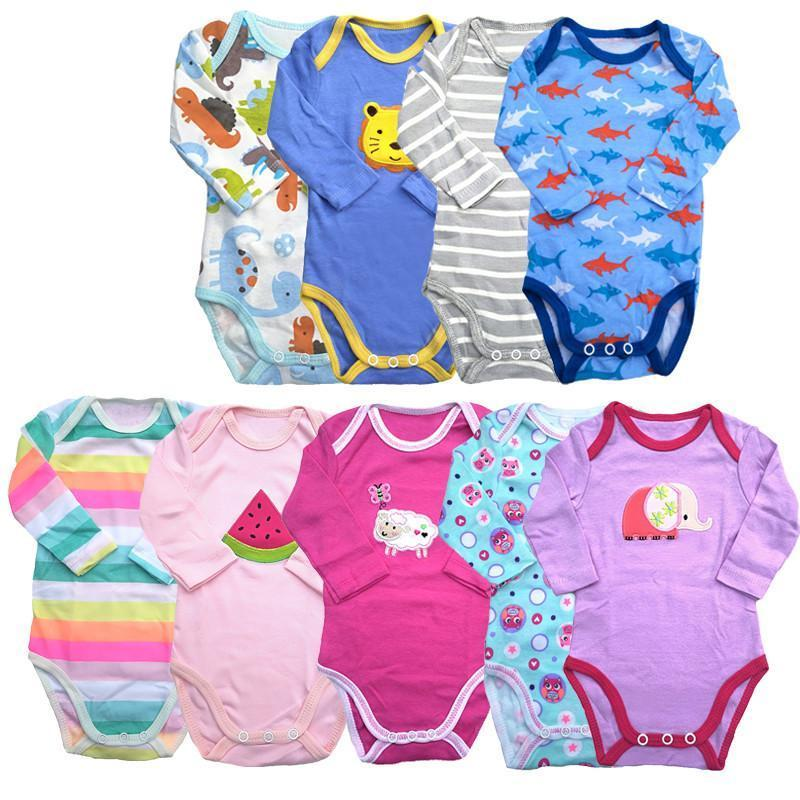 5pieces/lot long-Sleeved Baby Infant cartoon bodysuits for boys girls jumpsuits Clothingdresskily-dresskily