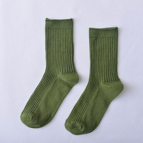 Women Brand Basic Socks Daily Socks Solid Colors Comb Cotton Knitteddresskily-dresskily