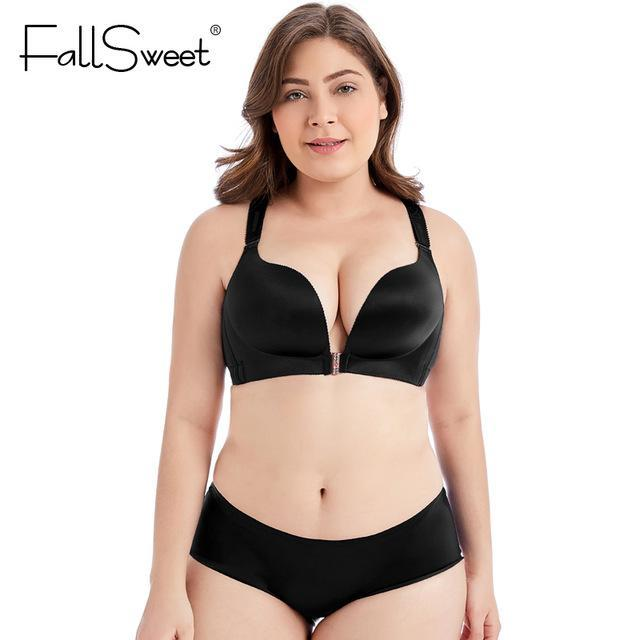 FallSweet Front Closure Bras Set Sexy Lace Beauty Back Lingerie Set Pushdresskily-dresskily
