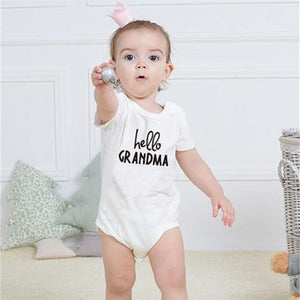 White Baby Rompers Cotton Girls And Boys Clothes Short Sleeve Romper Babydresskily-dresskily