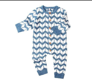 2018 Girls Rompers Knitted Baby Boys Rompers Casual Baby Clothing Longdresskily-dresskily