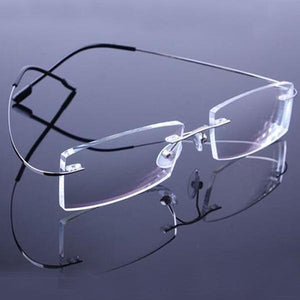 Top Sell Retail 9 Colors Lightweight Rimless Glasses Frames Memory Titanium Eyeglassesdresskily-dresskily