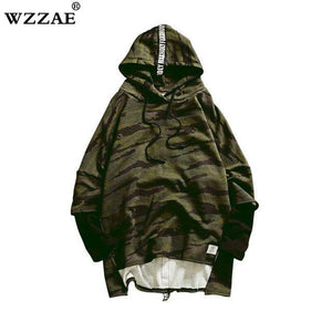 HOT 2018 Red Green Camouflage Hoodie Men Fashion Hip Hop Sweatshirts Branddresskily-dresskily