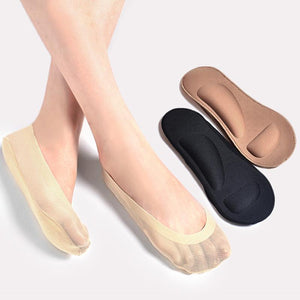 Sale Invisible Silk socks Women Antiskid massage Boat socks Breathable High-heeled shoesdresskily-dresskily