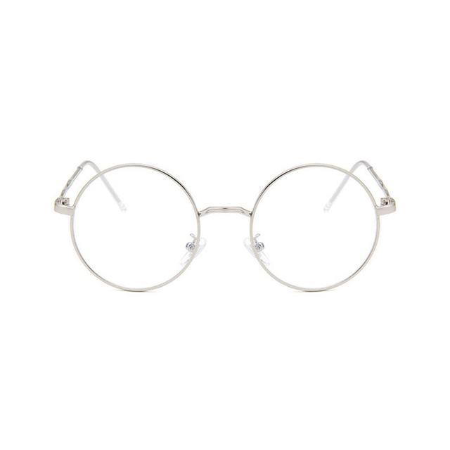 Vintage Lady Art Glasses Frame Small Round Flat Mirror Simple Designdresskily-dresskily