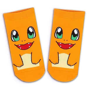 New Fashion Japanese Cartoon Raichu Charmander Cute Pokemon Socks Cotton Ankledresskily-dresskily