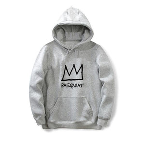 New style hot sale hoodies men women fashion Basquiat Crown printed maledresskily-dresskily