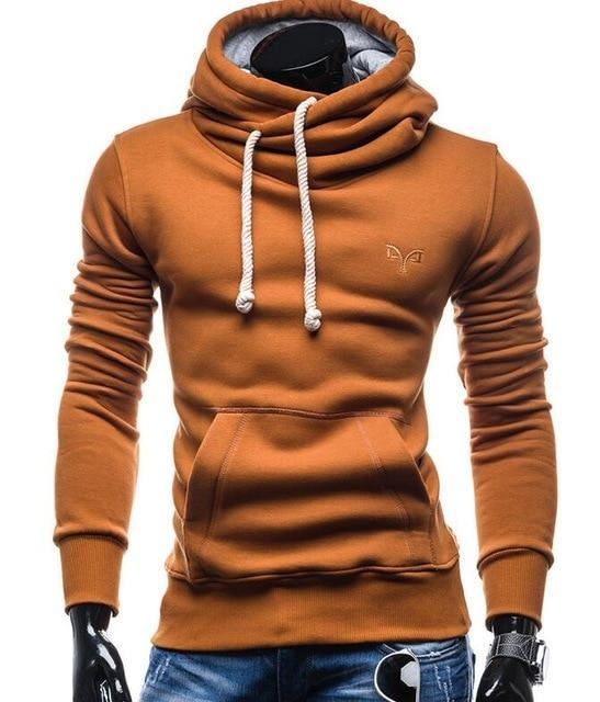 2018 New Spring Autumn Hoodies Men Fashion Brand Pullover Solid Color Turtleneckdresskily-dresskily