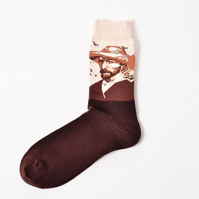 Socks Funny Retro Art Painting Character Pattern for Women Men ox Calcetinesdresskily-dresskily