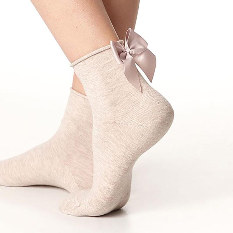 Winter Autumn Spring Sweet Curl Cotton After The Heel Ribbon Big Bowdresskily-dresskily