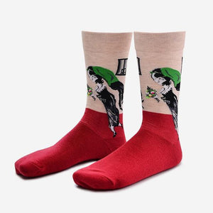 2017 Freedom Goddess British Duke Women's Couple Cotton Short Socks In Thedresskily-dresskily