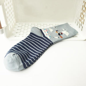 1pair Fashion Cartoon Character Cute Cat Socks Women Harajuku Cute Crew Socksdresskily-dresskily