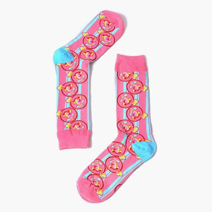 New Europe The United States Tide Brand Women Happy Socks Color Funnydresskily-dresskily