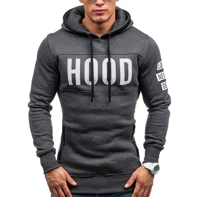 2018 New Men Hoodies Sweatershirt Fashion Print Letter Mens Hooded Casualdresskily-dresskily