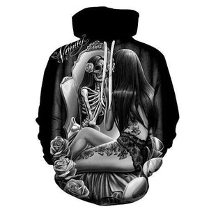 2018 Hot hoody new 3d Skull Hoodies Men Women Fashion Winter Springdresskily-dresskily