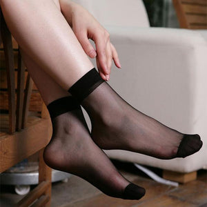 10 pairs Popular Ultrathin Transparent Fiber Crystal Elastic Short Socks Hot Saledresskily-dresskily
