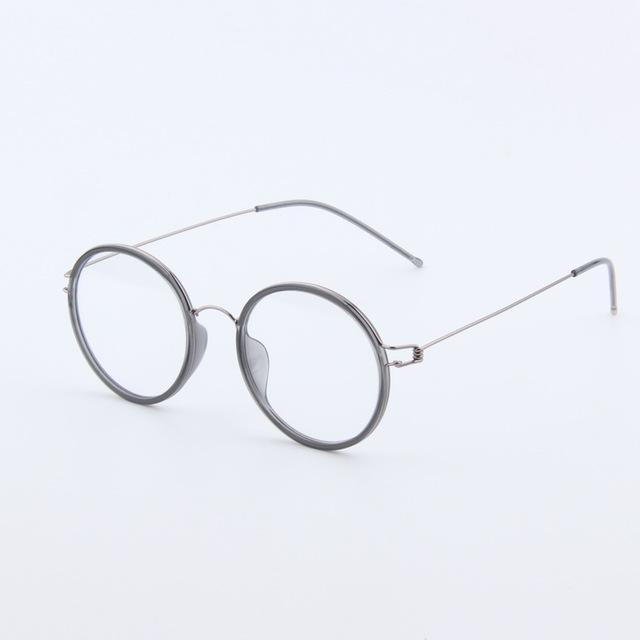 Retro Men Glasses frame Pure Hand-made Round Women Eyeglasses frames optical cleardresskily-dresskily