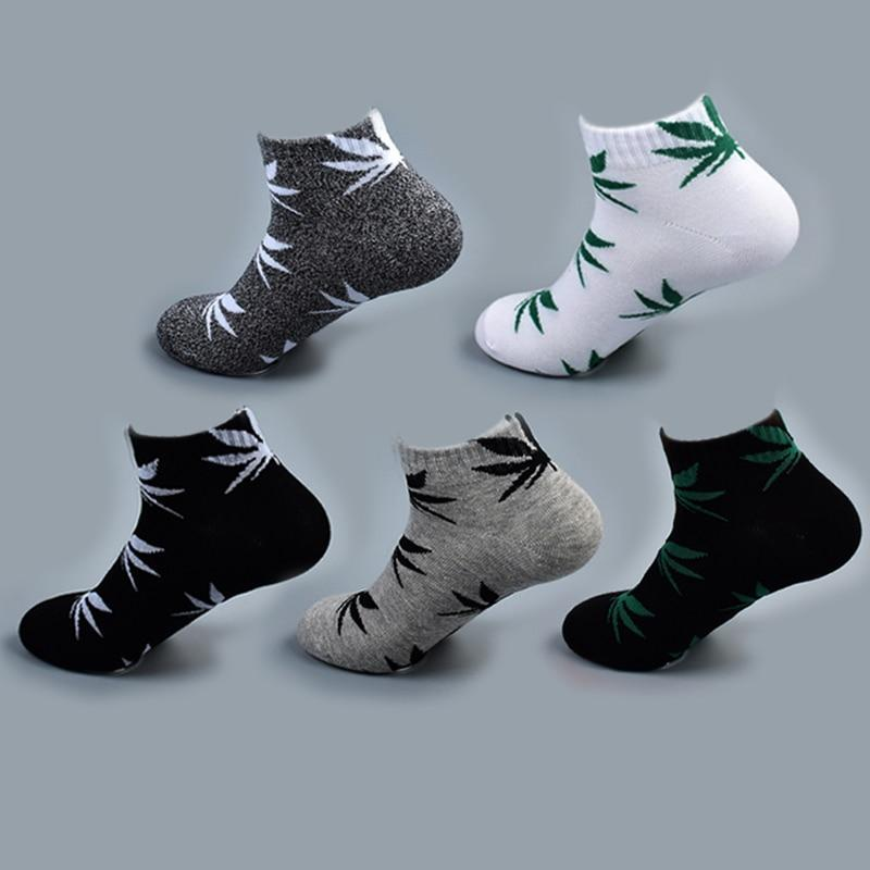 Bamboo Summer Women Men's Funny Ankle Socks Hemp Meias Short Happy Mapledresskily-dresskily