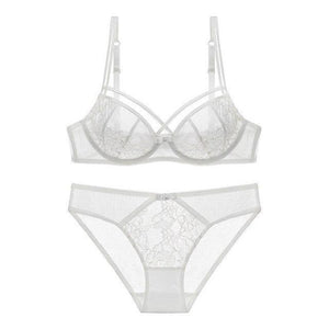 Push Up Lace Bra Set Women Sexy Full Transparent Lingerie Underwear Setsdresskily-dresskily