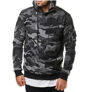2018 New Men Hoodies Sweatshirt Fashion Camouflage Military Tracksuit Casual Pulloverdresskily-dresskily
