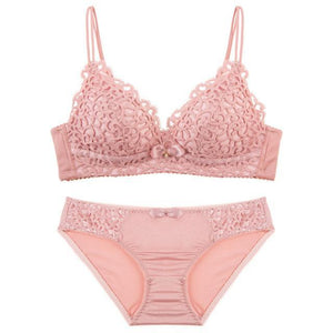 JYF Brand New Thin Section Sexy Lace Bra Set Cozy Triangle Cupdresskily-dresskily
