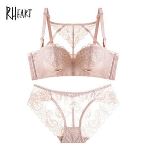 Roseheart 2018 New Women Fashion Black Skin Sexy Lingerie Sets Wireless Lacedresskily-dresskily