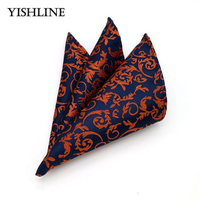 Fashion Men's 100% Silk Handkerchief Hanky Man Paisley Floral Jacquard Pocket Squaredresskily-dresskily