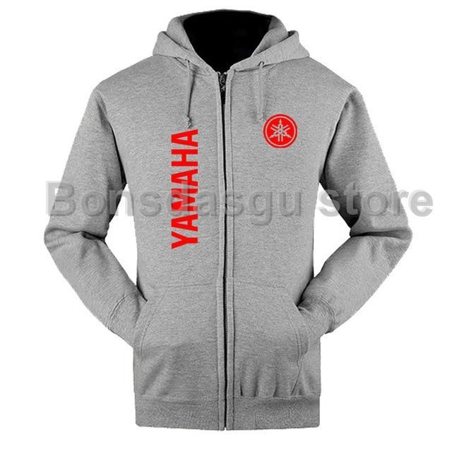Yamaha Logo zipper Hoodie 100% Sweatshirt for women and mendresskily-dresskily