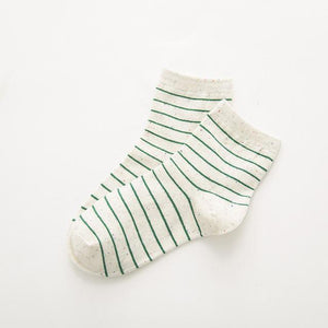 Hipster Classic Striped Patterned Short Socks Fashion Casual Sporty Cute Cotton Socksdresskily-dresskily