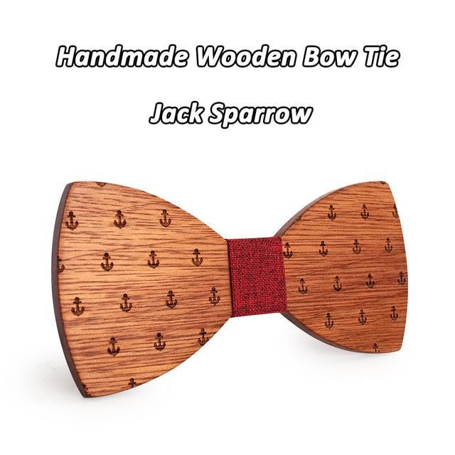 Classic Captain Wood Bow Ties Wooden Butterfly Bowknots Gravatas Cravatdresskily-dresskily