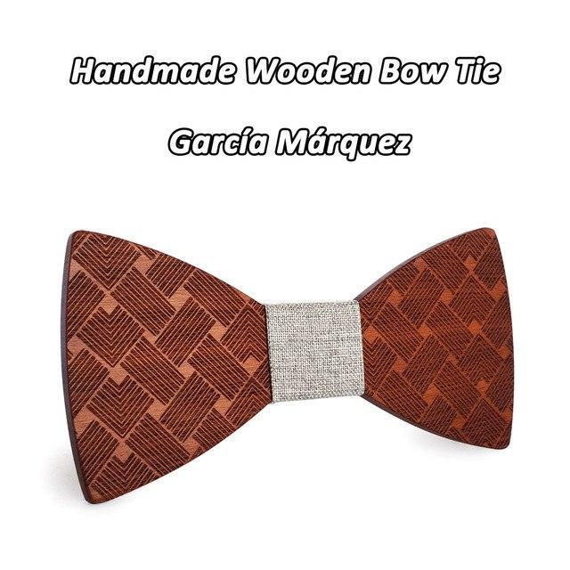 Mahoosive Wooden Bow Ties For men Clothing wood Accessories Solid Color Bowknotdresskily-dresskily