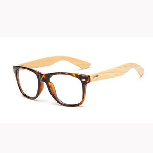 Classic Retro Lens Nerd wood Glasses frames Fashion brand designer Men Womendresskily-dresskily