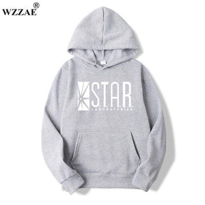 2018 STAR S.T.A.R.labs Black Men's Hooded Hoodies Men Sweatshirt Jumper Thedresskily-dresskily
